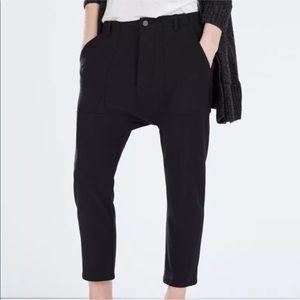 41f4d6ca Zara Pants   Black Drop Crotch Trousers   Poshmark